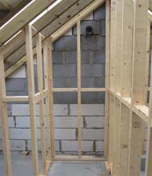 The components of a timber stud partition wall