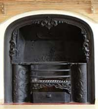 Traditional cast iron fireplace