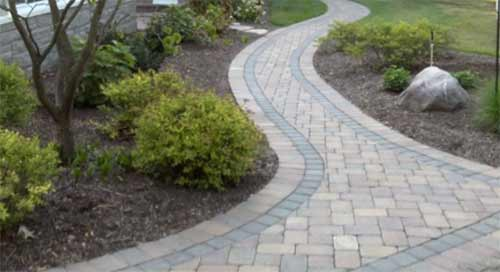 Paved garden path