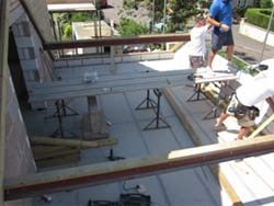 Putting steel purlins into a roof to build a loft conversion