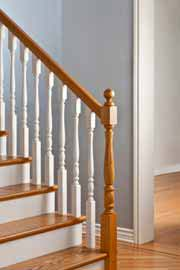 Balusters hold the stair hand rail - the balusters and handrail are called the balustrade