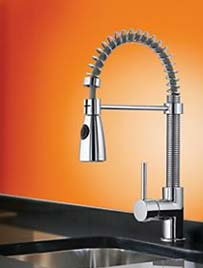 Pull out spray taps are in vogue for the kitchen
