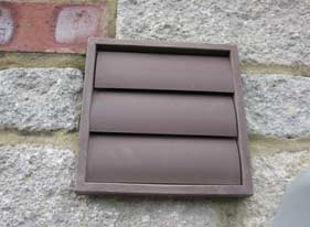 Grill flaps stop insects and birds getting into ventilation ducts