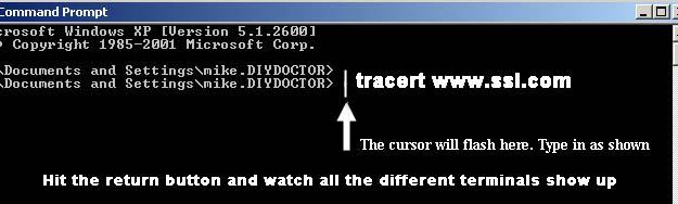 Command prompt screen