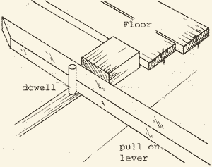 How to lay floor boards using a lever to ensure they are kept tight together