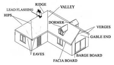 Tiles and Roof Coverings - Different Areas on a Roof