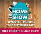 National Home Improvement Show Olympia 28th to the 30th September 2012