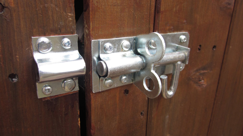 Fitting a Shed Lock   How to Fit a Bolt Lock or Brenton Bolt to a Shed or Outbuilding Door for Security   DIY Doctor & Fitting a Shed Lock   How to Fit a Bolt Lock or Brenton Bolt to a ...