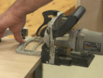 Using a Biscuit Jointer (or Plate Joiner) to Join Pieces of Wood