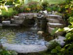 Beautiful garden water feature