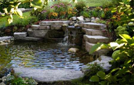 Beautiful garden water feature
