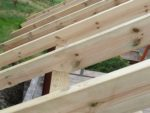 Birdsmouth joints cut in to roofing timbers