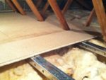 Boardded and insulated loft