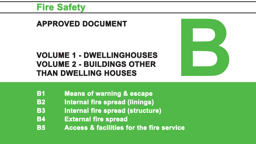 Building Regulations Approved Document B For Fire Safety