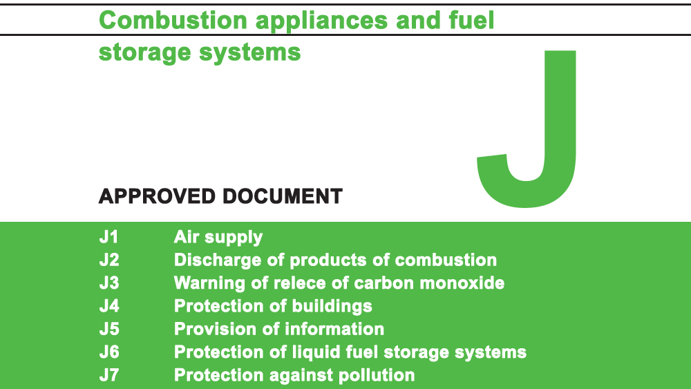 Building Regulations Approved Document J for Combustion