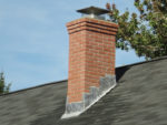 Lead Chimney Flashing Including Front and Side Apron