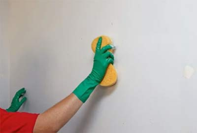Cleaning down walls before decorating