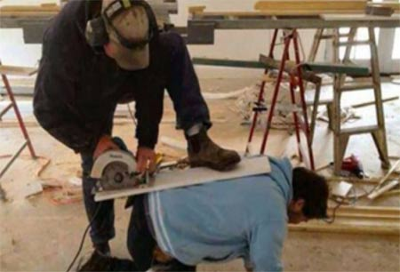 Using power tools in a dangerous manner