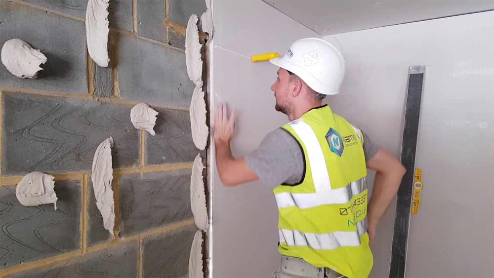 Dot And Dab Plasterboarding How To Fix Plasterboard To A