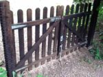 Wooden picket style garden gate