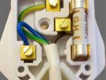 Inside a 3 pin plug