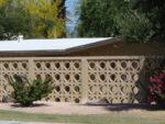 Building an Exterior Block Screen Garden Wall