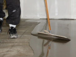 Garage Floor Coverings and How to Level a Garage Floor Using Self Leveling Screed