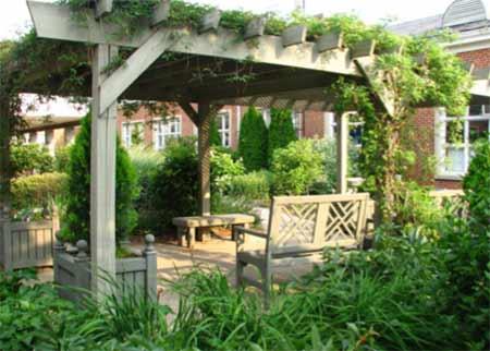 Garden pergola feature