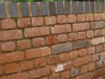 Brickwork garden wall