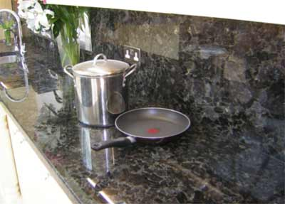 Granite splashback