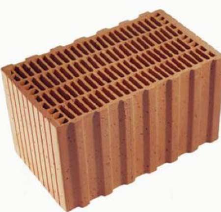 A honeycomb clay block