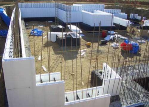 ICF blocks used on building site