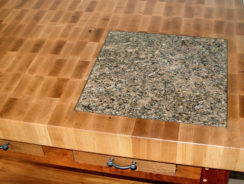 Granite or Marble Inserts in Worktop