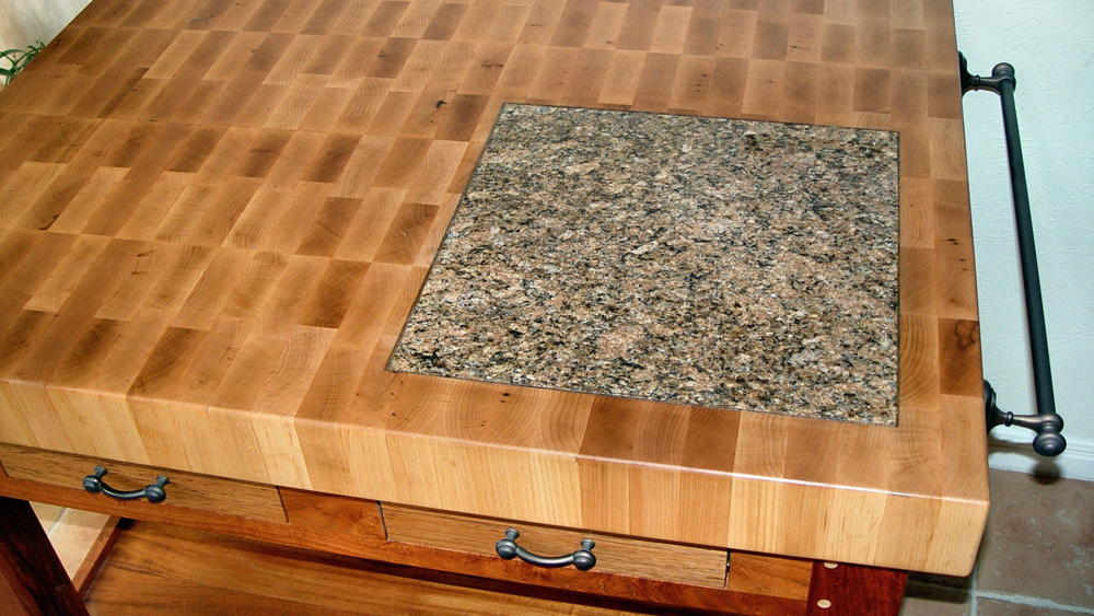 Timber And Marble Stone Or Granite Worktop Insert Pastry