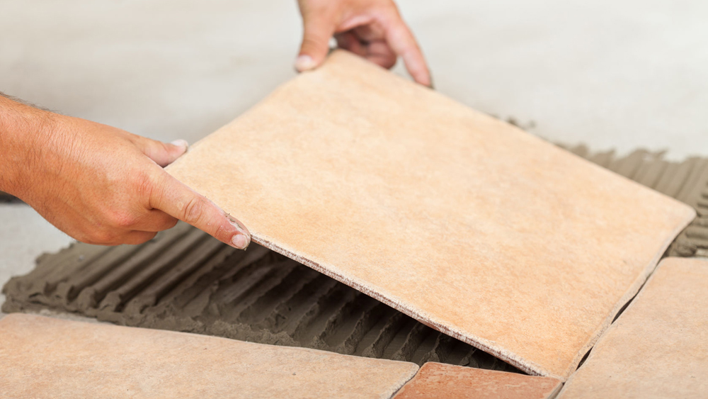 How To Lay Floor Tiles In Kitchens And Bathrooms On To Timber Floors