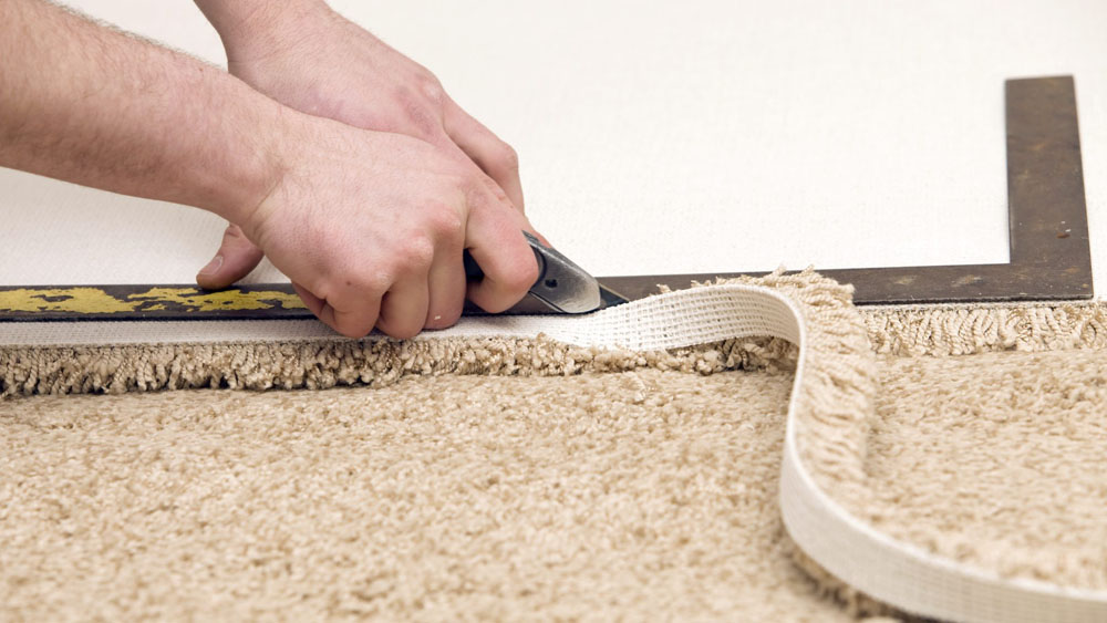 Laying A Carpet How To Fit A Carpet Diy Doctor