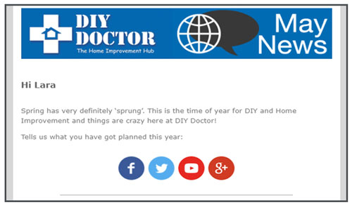 The DIY Doctor traditional newsletter