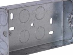 Metal back box for sockets and switches