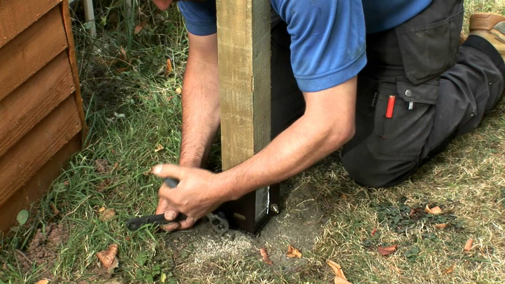Fixing Fence Posts   Install Metal Post Holder   DIY Doctor