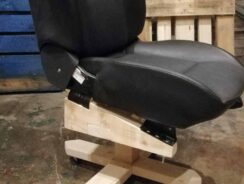 Office chair made from a car seat