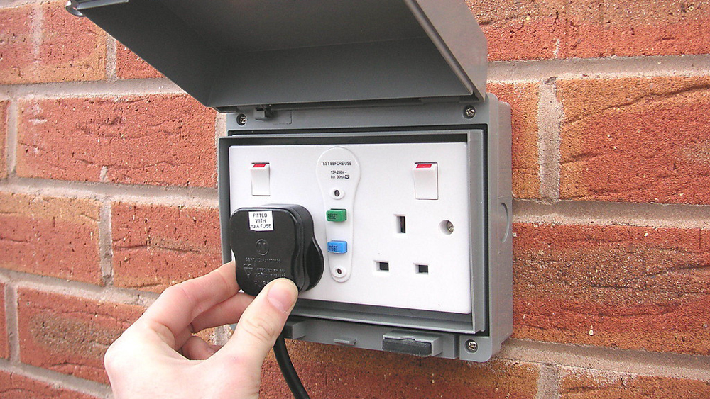 installing an outdoor socket or exterior power point diy doctor rh diydoctor org uk Lamp Socket Wiring Diagram Outlet Wiring