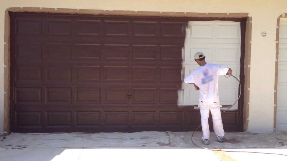 painting a metal garage door and preparing metal garage doors for painting diy doctor - How To Paint A Garage Door