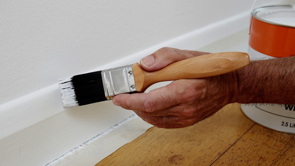 Painting Skirting Boards And Preparing For Decoration