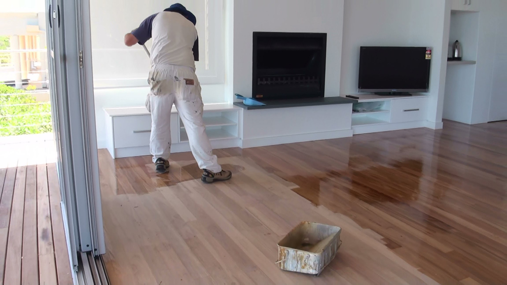 Do it your self wood floor painting