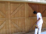 Painting Wooden Garage Doors