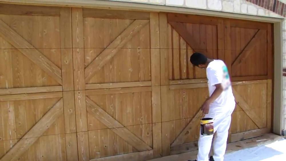Painting Wooden Garage Doors Including Preparing Wooden