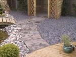 Paving slab pathway in garden