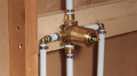Plastic plumbing pipework
