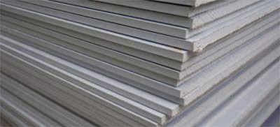 Stack of plasterboard