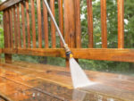 Power Washing Decking and Patios with a Power Washer